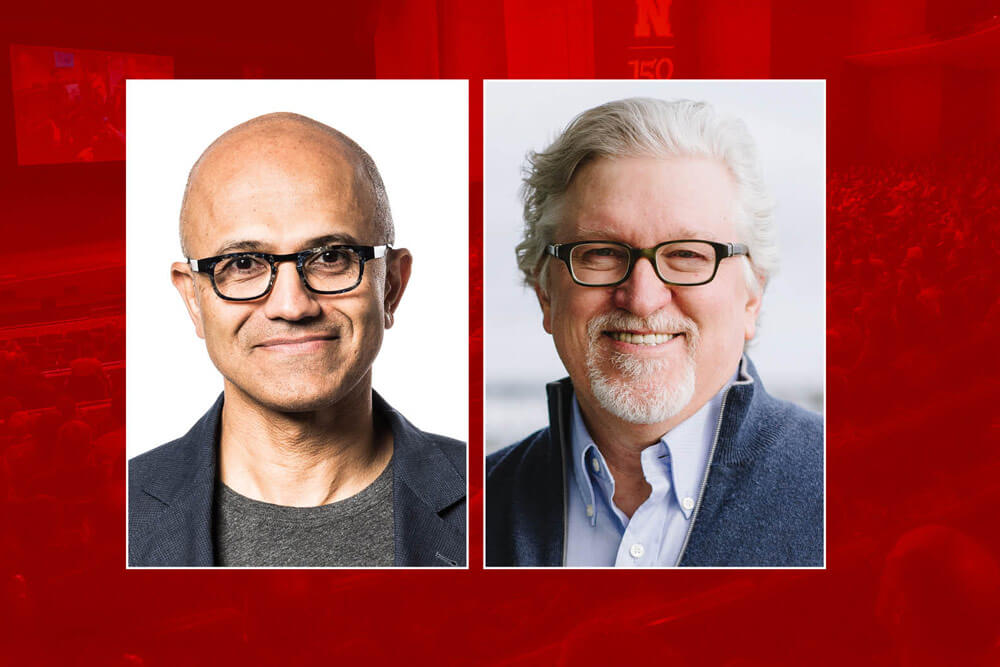 Satya Nadella and Jeff Raikes